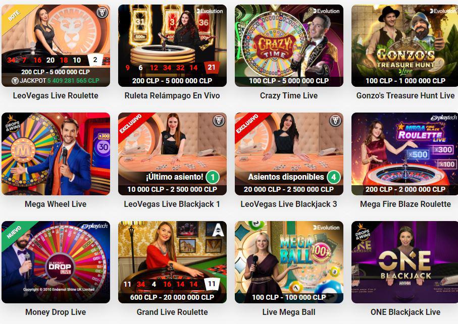 Bonos de casino en vivo
